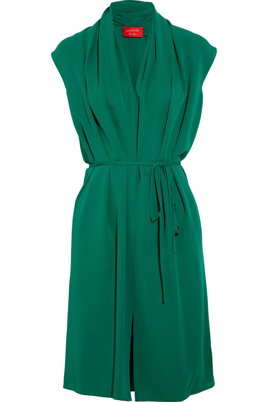 Платье с запахом из шелка