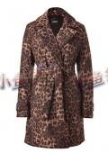 Пальто демисезонное леопард