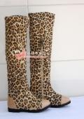 Ботфорты с леопардовым принтом для  маленькой модницы