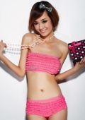 Очень миленький розовый комплект :)
