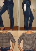Джинсы и блузка безразмерная