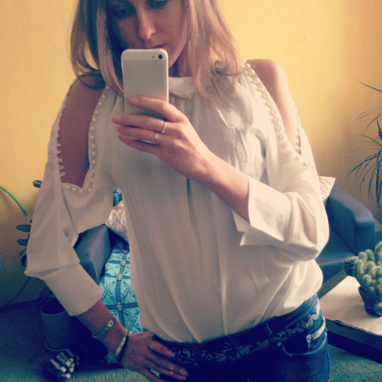 Фото просвечивающаяся блузка 14 фотография