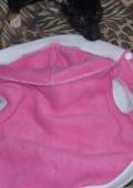 Кофта розовая зайка для собак
