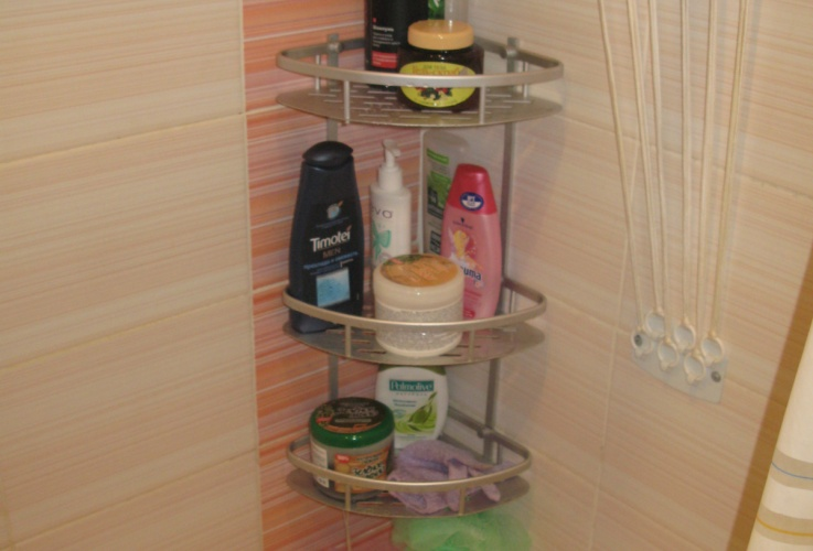 Подставки для шампуней в бане своими руками
