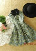стильное платье с милым кожаным воротничком:з