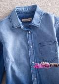 джинсовая рубашка и бусины