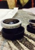 Объектив для мобильных телефонов 1 set Magnetic 3 in 1 Wide Angle Macro lens 180 Fish Eye camera Kit