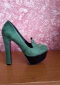 """Туфли зеленого цвета """"лоферы"""""""