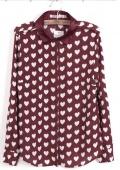 Рубашка с рисунком сердца