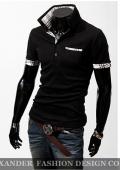 Мужская футболка New Casual Men`s Stylish Slim