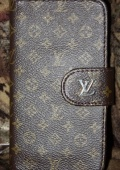 Кожаный ЧЕХОЛ Louis Vuitton на Samsung Galaxy S4