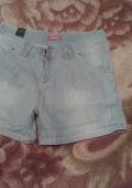 Шорты женские джинсовые.