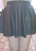Кожаная чёрная юбка превзошла все ожидания!!!