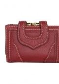 Бумажник женский короткий красный