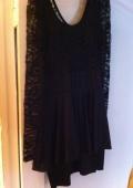 Черное платье с баской!!!!