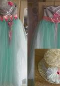 Волшебное мятное платье