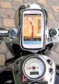 Часы и термометр на руль мотоцикла.