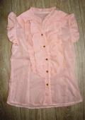 Розовая блузка из шифона
