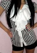 Чёрно-белая блузка