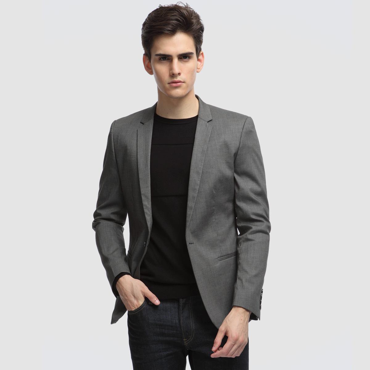 С чем одевать серый пиджак мужчине