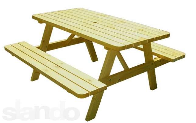 Скамья и стол