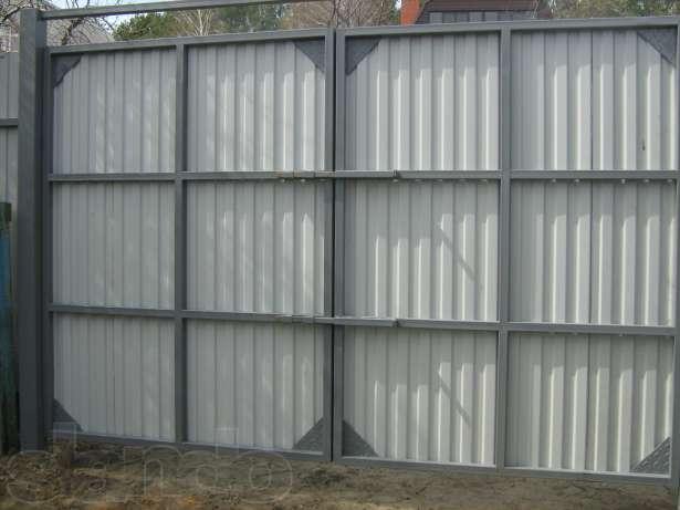 Ворота для гаража из профильной трубы