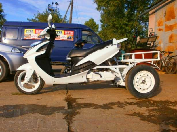 скутер трехколесный для дачи и рыбалки купить в москва
