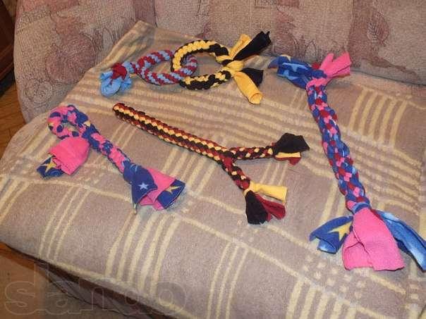 Игрушки для собак из каната своими руками