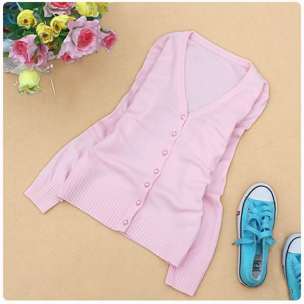 оптом Сладкий свитер розового цвета.
